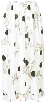 Isa Arfen floral and polka dot print skirt