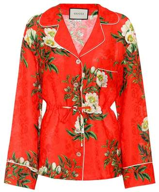 Gucci Silk-blend pyjama shirt