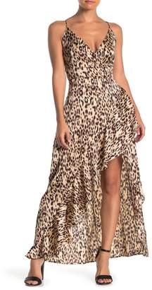 ONE ONE SIX High/Low Leopard Printed Dress