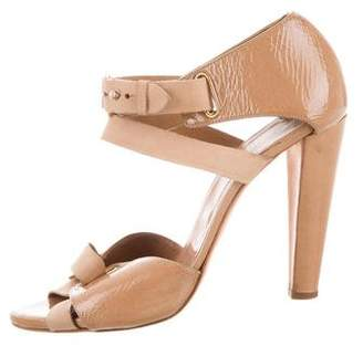 Pierre Hardy Patent Leather Ankle Strap Sandals