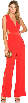 BCBGMAXAZRIA Malgosia Jumpsuit in Red $298 thestylecure.com