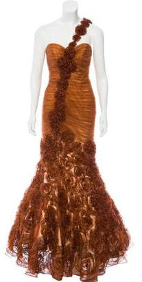 Jovani Ruched One-Shoulder Evening Gown w/ Tags