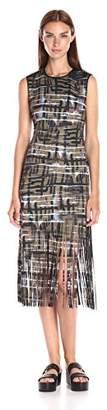 Clover Canyon Sportswear Women's Black Back Neoprene Laser Cut Dress