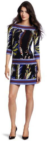 Ali Ro Women's Printed Jersey Border Shift Dress