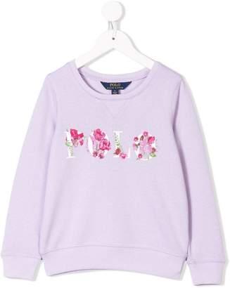 Ralph Lauren Kids floral logo print sweatshirt