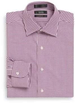 Saks Fifth Avenue BLACK Slim-Fit Gingham Cotton Shirt