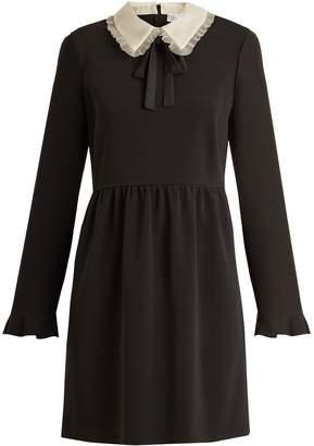 REDVALENTINO Stretch-crepe long-sleeved dress $473 thestylecure.com