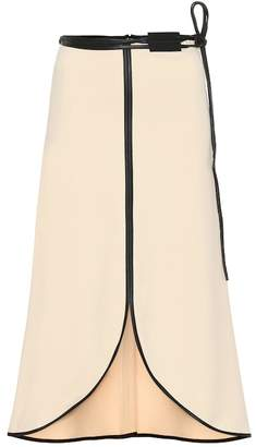 Victoria Beckham Crepe midi skirt