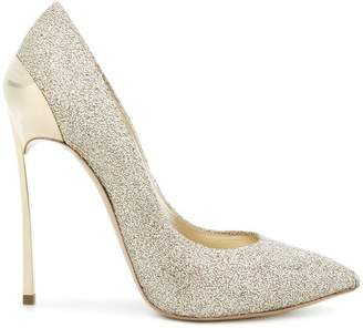 Casadei Techno Blade glittered pumps