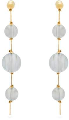 Burberry Resin Sphere Drop Earrings - Womens - Blue