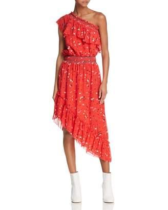 Joie Hafsa One-Shoulder Silk Dress