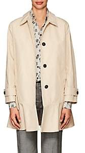 Prada Women's Peplum-Hem Tech-Cotton Coat - Tan