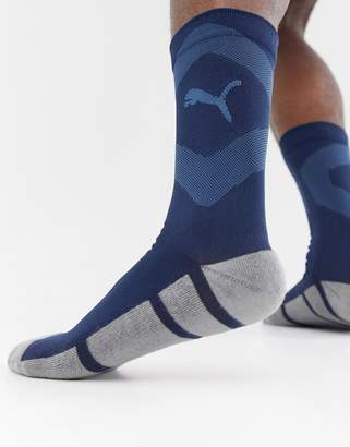Puma Soccer Training Socks In Navy 655798-03