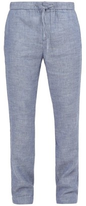 Blend of America Frescobol Carioca - Sport Linen Trousers - Mens - Navy