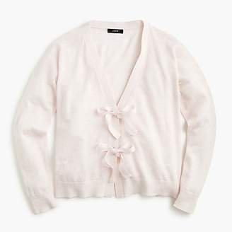 J.Crew Bow-front cardigan sweater