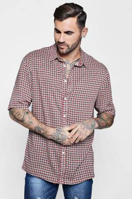 boohoo Print Short Sleeve Shirt