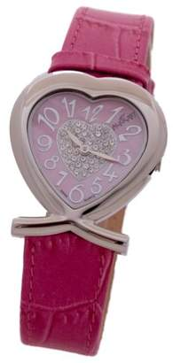 August Steiner Women's AS10PN Forever Young Swarovski Crystal Heart Watch
