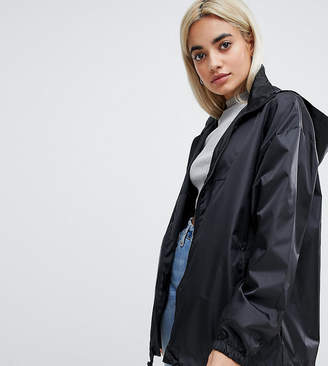 Asos DESIGN Petite rain jacket with fanny pack