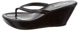 Prada Platform Thong Sandals