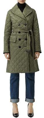 Burberry Double-Breasted Quilted Trench Coat