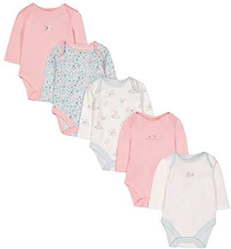 Mothercare Baby Girls' G 5 Pack Long Sleeve Bunny Bodysuits,(Size: 68)
