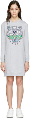 Kenzo Grey Tiger Pullover Dress $355 thestylecure.com