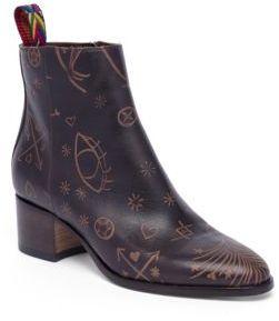 Valentino Santeria Leather Booties