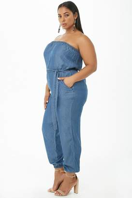 at Forever 21 · Forever 21 Plus Size Strapless Jumpsuit