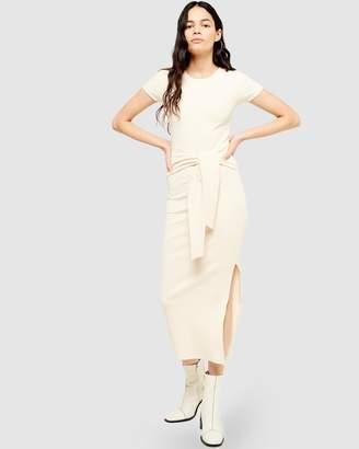 Topshop SS Belted Ribbed Column Dress