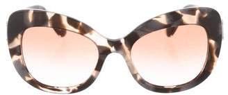 Dolce & Gabbana Marble Cat-Eye Sunglasses