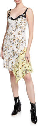 Off-White Love Mixed Floral-Print Sweetheart Sleeveless Cami Dress