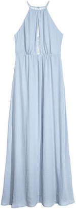 H&M Long Dress with Lace Back - Blue