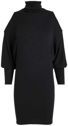 Enza Costa Cold Shoulder Dolman Sleeve Mini Dress