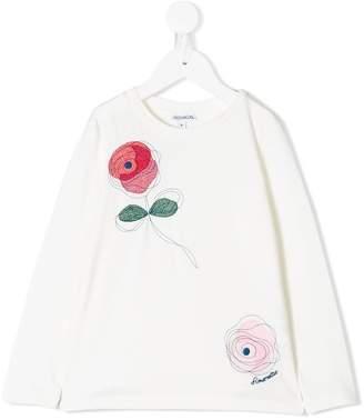 Simonetta embroidered rose top