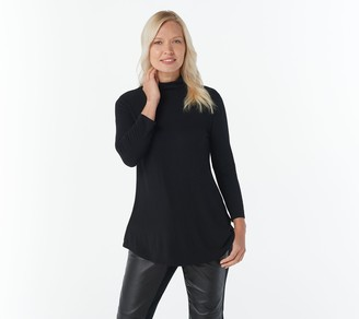 Halston H By H by Essentials 3/4-Sleeve Turtleneck Tunic