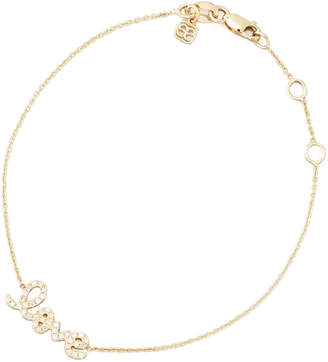 Sydney Evan Small Yellow Gold Diamond Love Bracelet