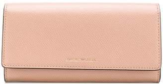 Emporio Armani logo flap wallet