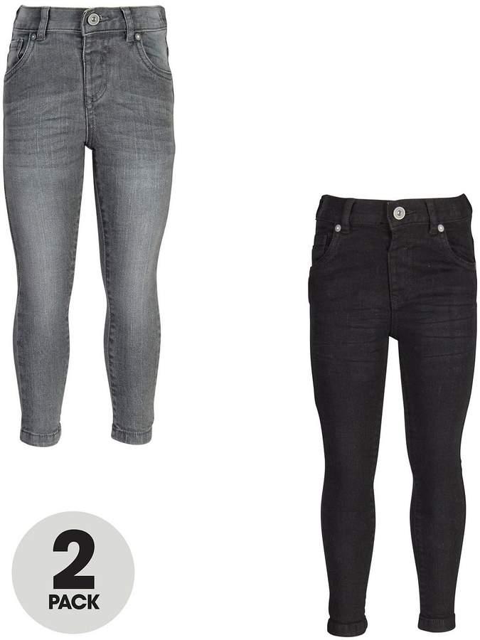 Mini V By Very Boys 2 Pack Black & Grey Wash Skinny Jeans