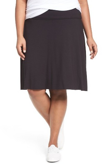 Three Dots Plus Size Women's Three Dots Fold Over A-Line Skirt