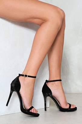 Nasty Gal Crush It Velvet Heel