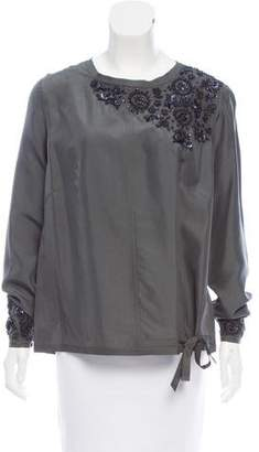Pauw Silk Embellished Top w/ Tags