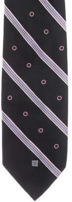 Givenchy Striped & Dot Jacquard Silk Tie