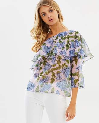 Polly Off Shoulder Frill Top