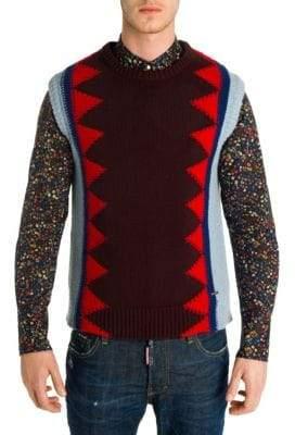 Viktor & Rolf Geometric Patterned Wool Sweater