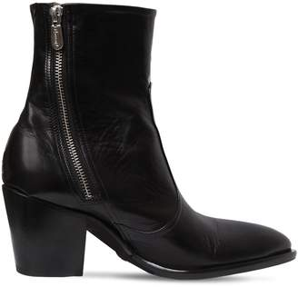Rocco P. 60mm Zipped Leather Ankle Boots