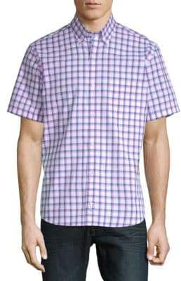 Tailorbyrd Bart Short-Sleeve Cotton Button-Down Shirt