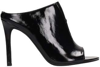 Jeffrey Campbell Black Patent Leather Sandals