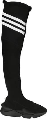 Y-3 Y 3 Knee-high Stretch Knit Boots