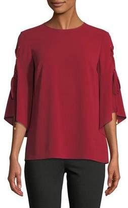 MICHAEL Michael Kors 3/4-Sleeve Grommet Top