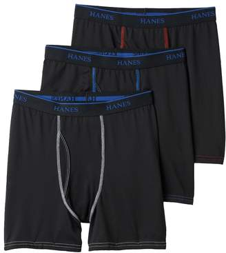 Hanes Boys 3-Pack X-Temp Lightweight Performance Boxer Briefs